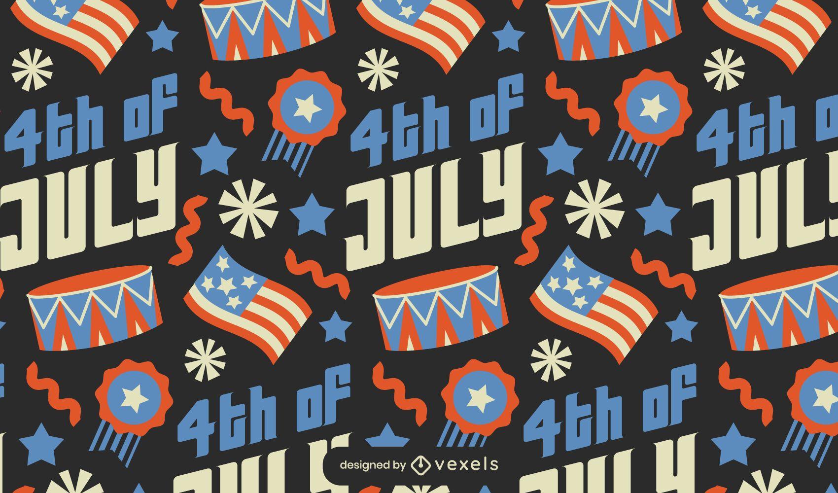 Fourth of july american celebration pattern