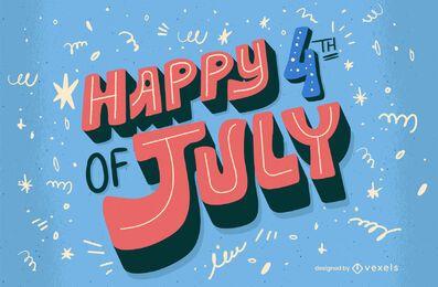 Letras de comemoração de 4 de julho feliz