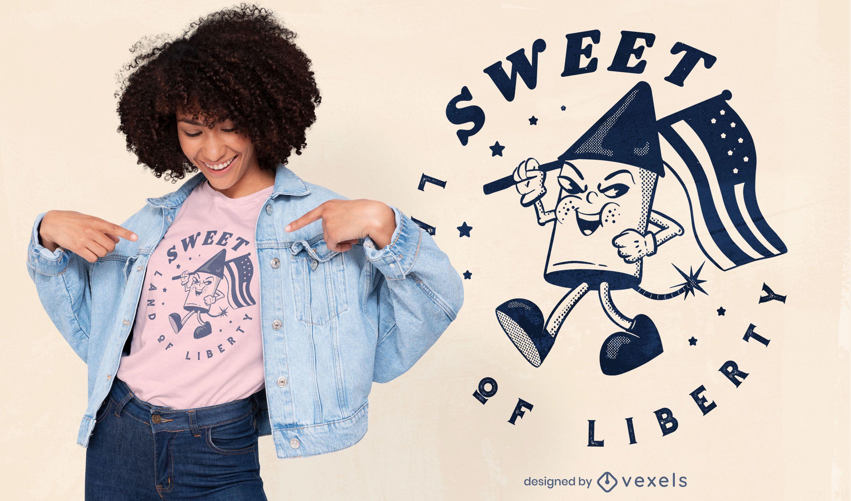 Diseño de camiseta Land of Liberty