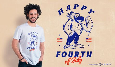 Happy fourth of july t-shirt design