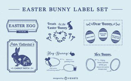Conjunto de emblemas sazonais do feriado da Páscoa