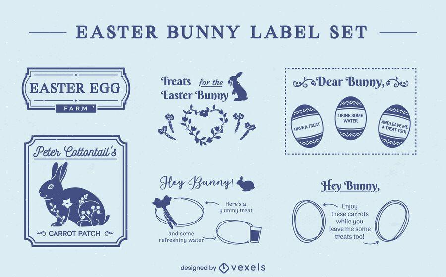 Easter holiday seasonal badge set