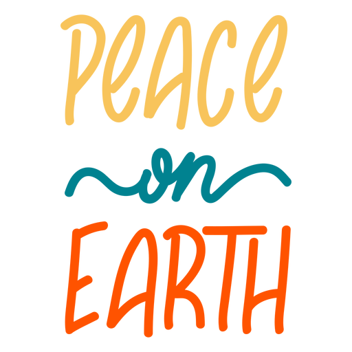 Earth day peace badge