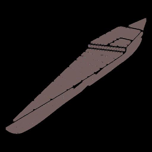 Canoe boat cut out