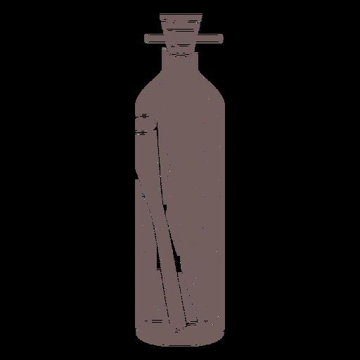 Bottle message cut out