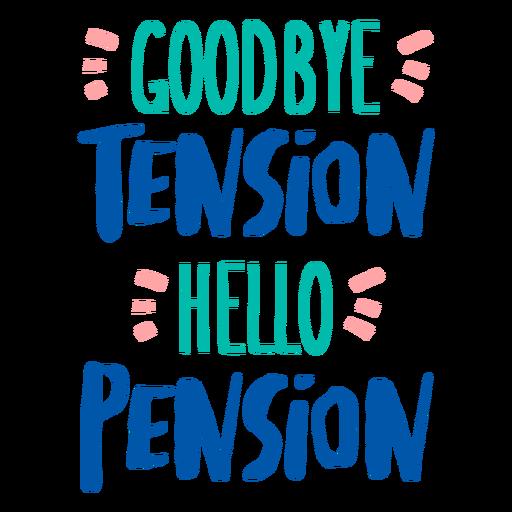 Hello pension quote flat