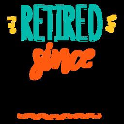 Retired empty badge