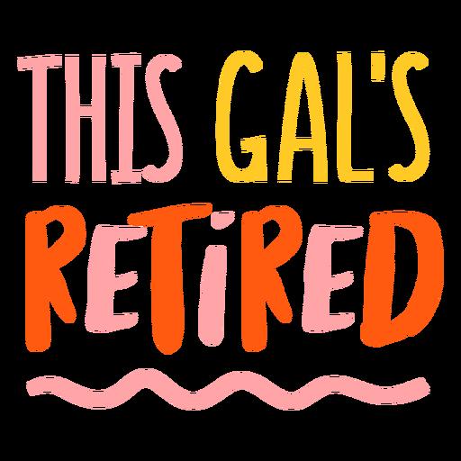Retired woman badge