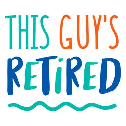 Retired man badge