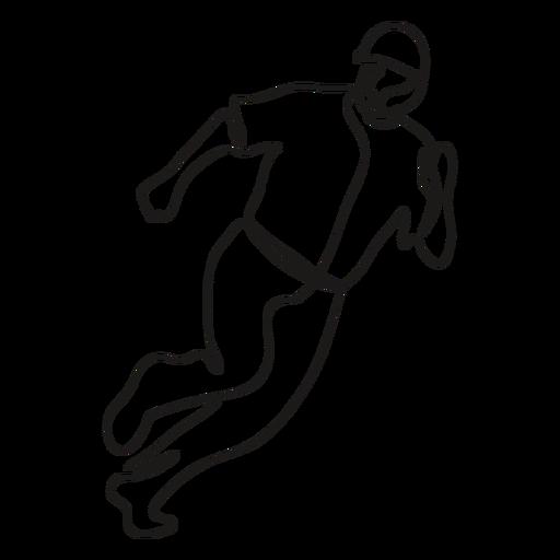 Baseball sport player running