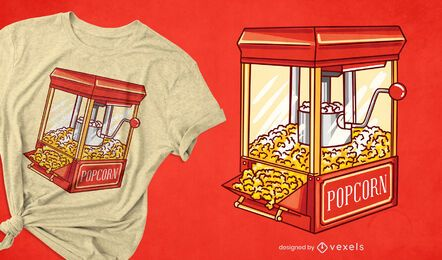 Popcorn-Maschinen-T-Shirt-Design