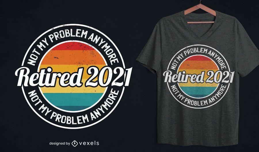 Retired 2021 t-shirt design