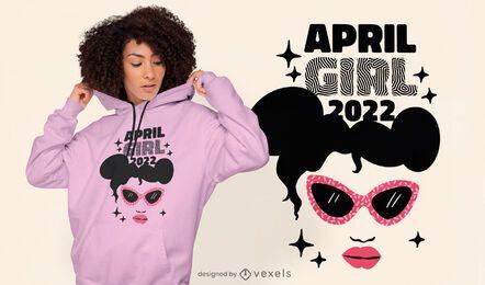 Design de t-shirt feminina de mês de aniversário