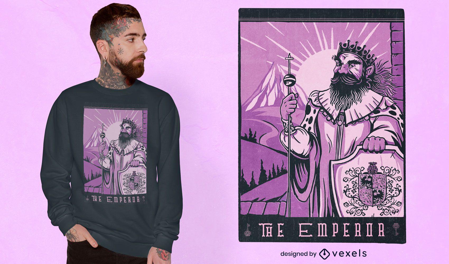 The emperor tarot t-shirt design