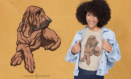 Diseño de camiseta de raza de perro Bloodhound.