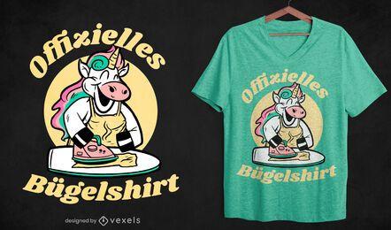 Unicórnio passando design de camiseta alemã