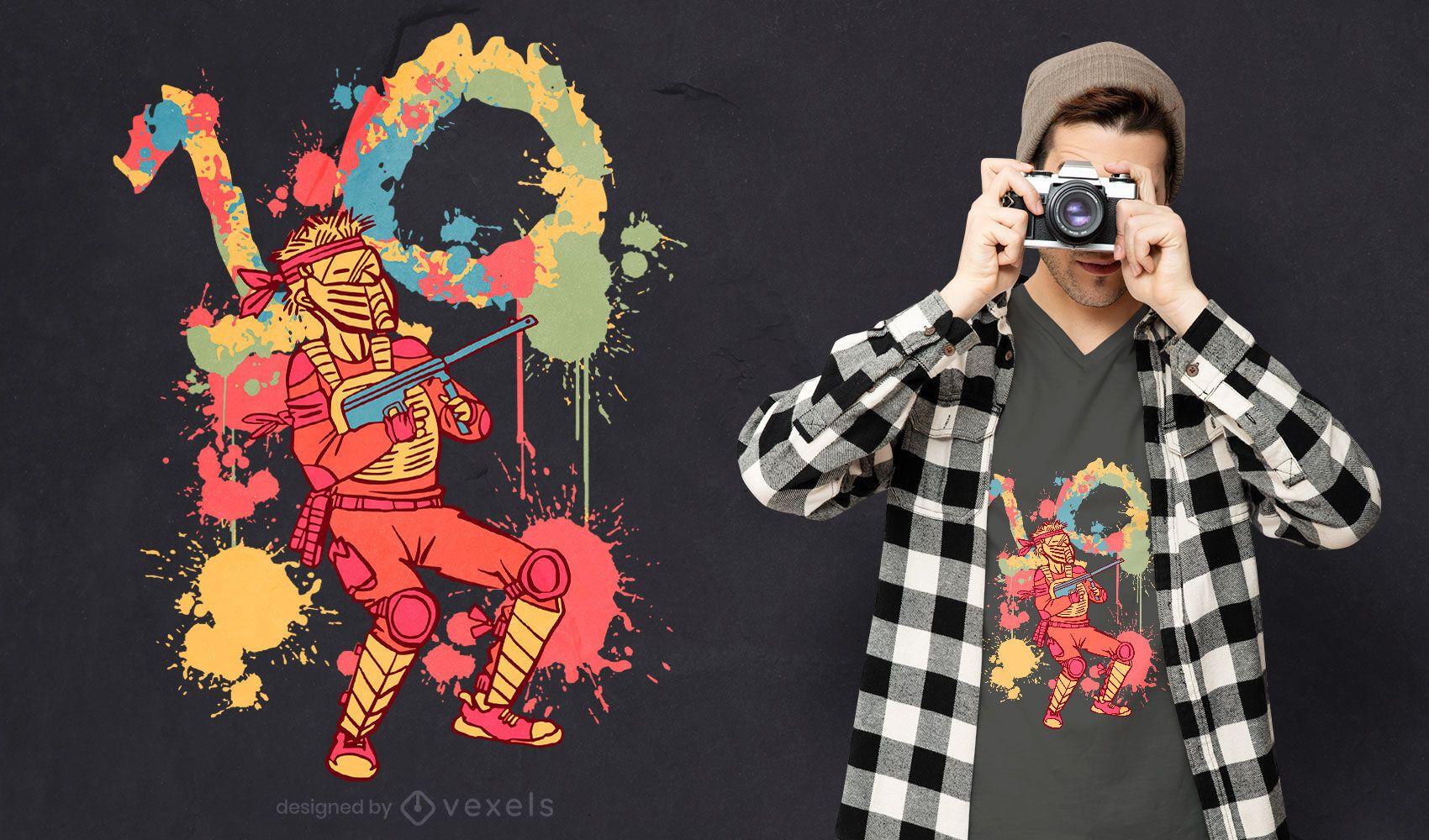 Paintball kid t-shirt design