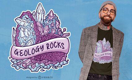 Diseño de camiseta de cita de rocas de geología