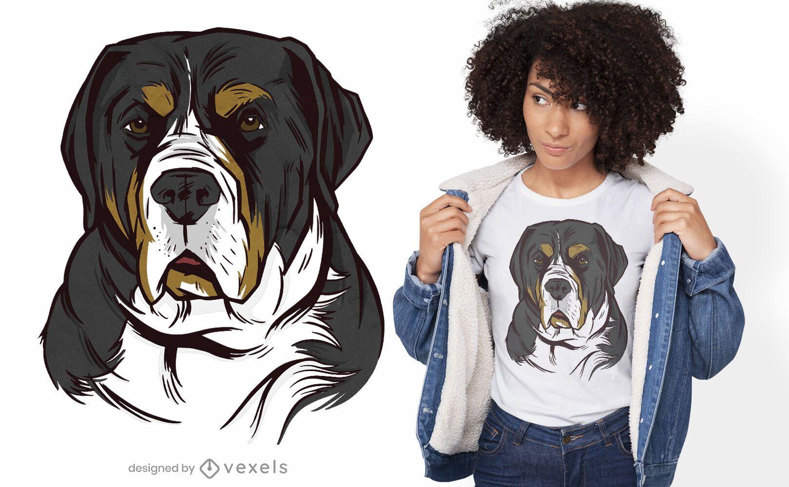 Greater swiss mountain dog t-shirt design
