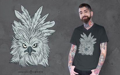 Diseño de camiseta de águila arpía