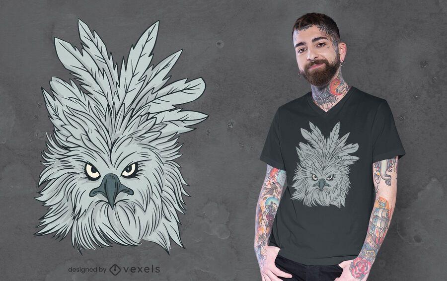 Harpy eagle t-shirt design