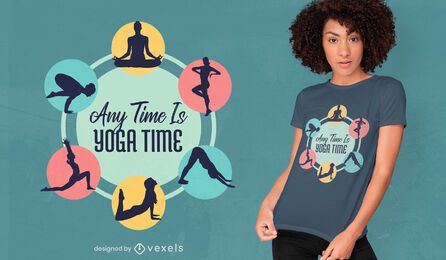 Any time yoga time t-shirt design