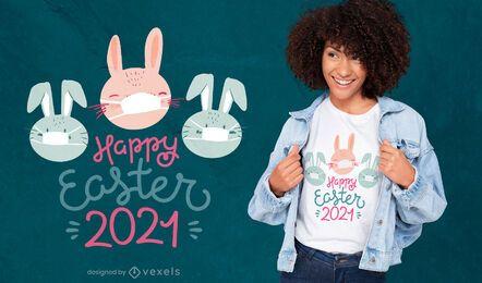 Diseño de camiseta de Pascua 2021