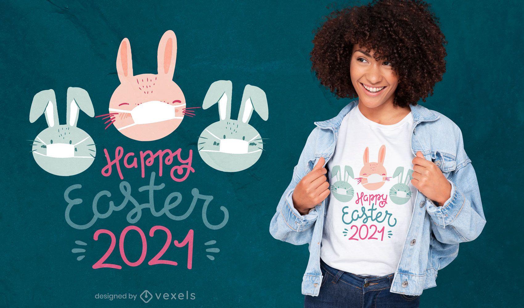 Design de camisetas da Páscoa de 2021