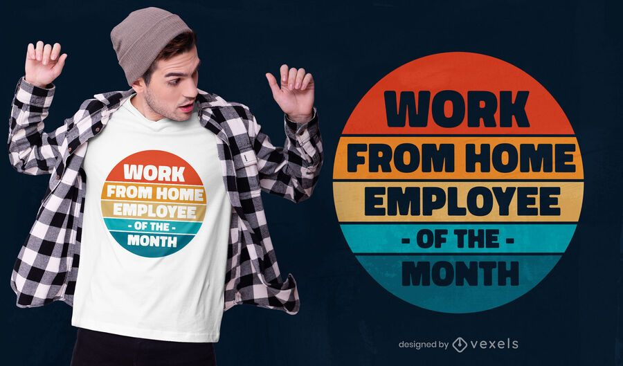 Work from home quote t-shirt design