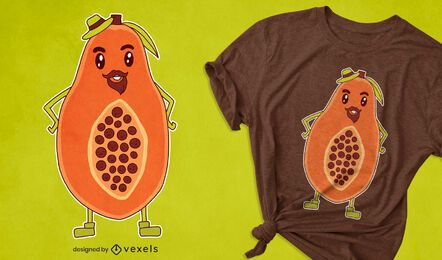 Papaya cartoon t-shirt design