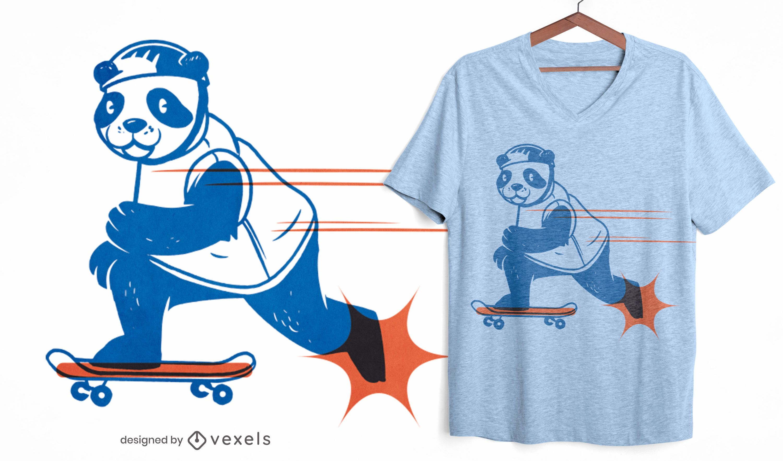 Skater panda t-shirt design