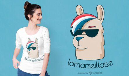 Design engraçado da camiseta la marseillaise