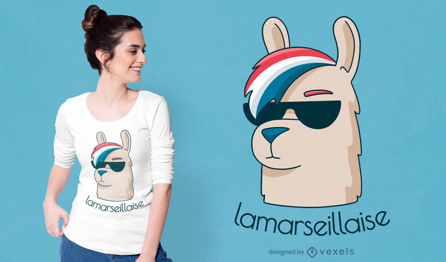 Divertido diseño de camiseta de la marseillaise.