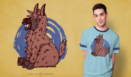 Diseño de camiseta de burro bebé