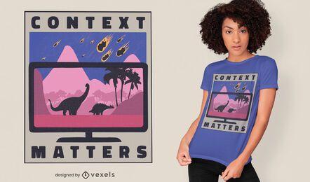 Design conceitual de t-shirt do contexto de mídia