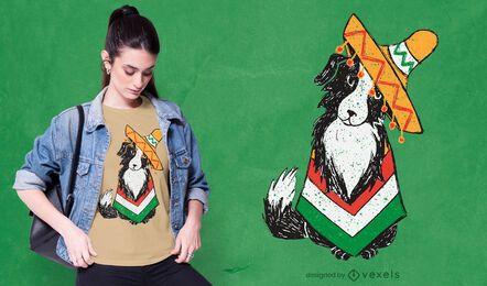 Diseño de camiseta de perro cinco de mayo.