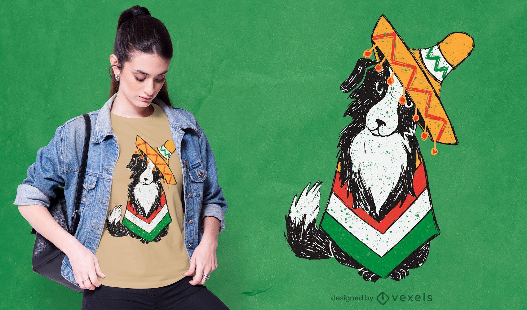Cinco de mayo dog t-shirt design