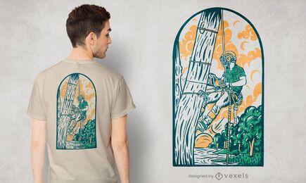 Diseño de camiseta de arbolista
