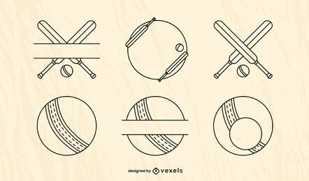 Cricket sport equipment element set