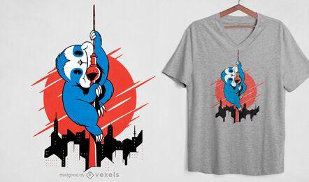 Slock attack skyscraper t-shirt design