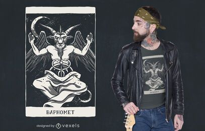 Baphomet demon card t-shirt design