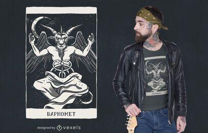 Diseño de camiseta de tarjeta de demonio de Baphomet