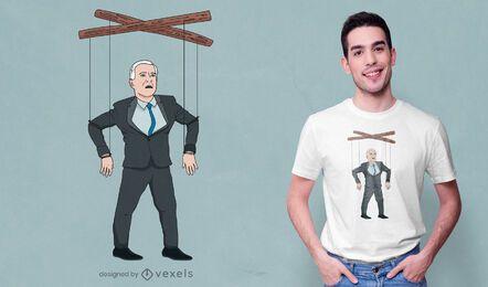 Confused Biden puppet t-shirt design
