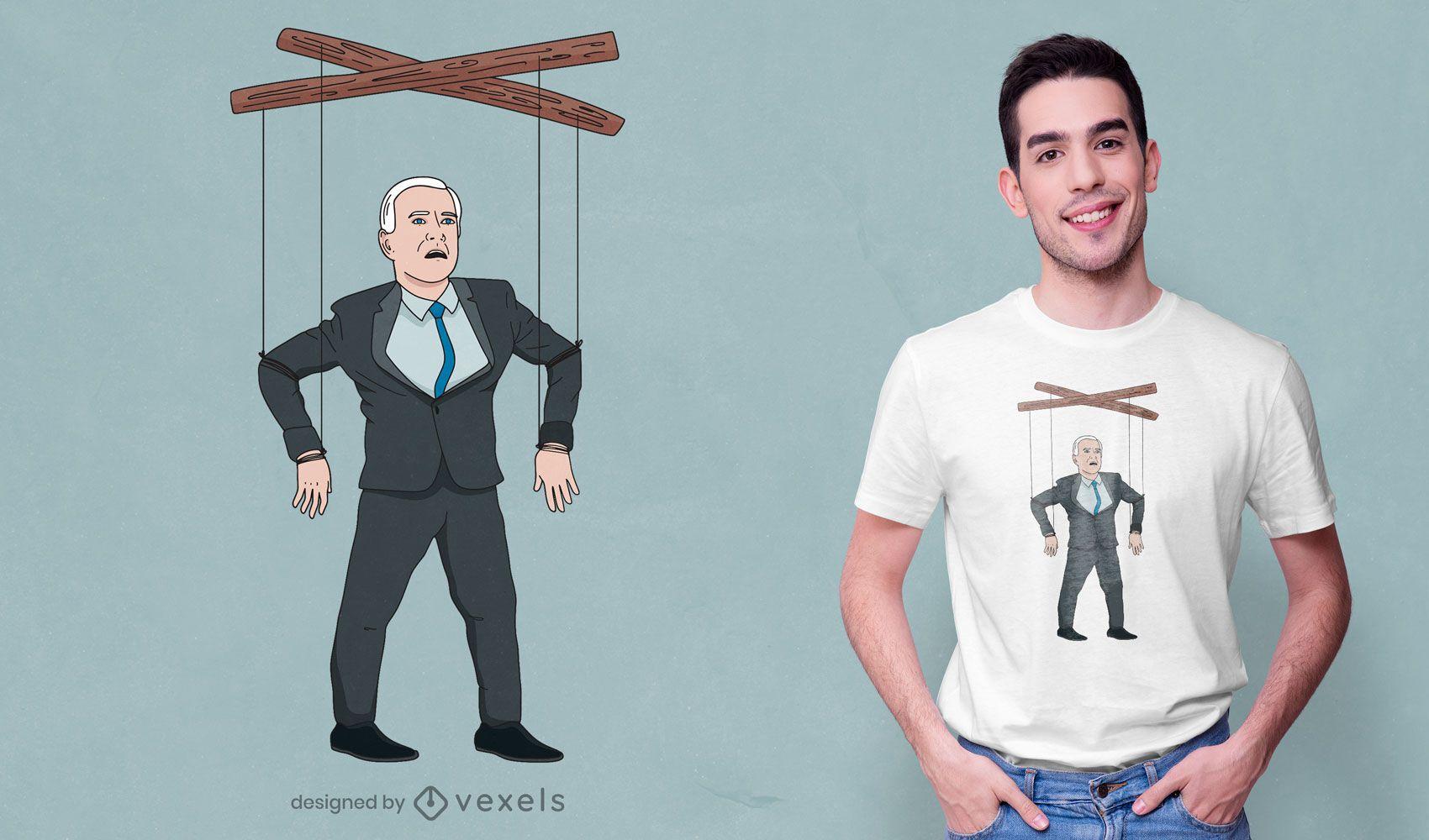 Diseño de camiseta de marioneta de Biden confundido