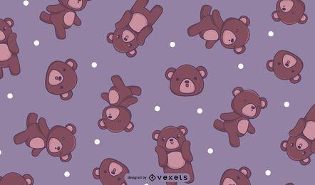 Teddybären nahtloses Muster
