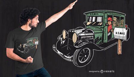 Design de t-shirt de porta-cartas rural