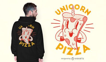 Design de t-shirt de pizza Unicorn