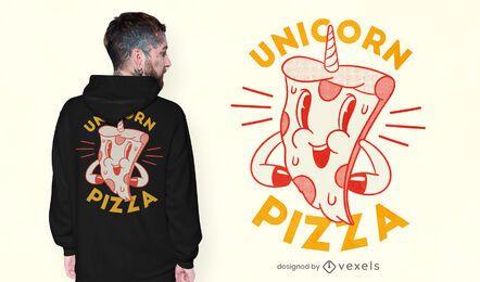 Diseño de camiseta unicornio pizza