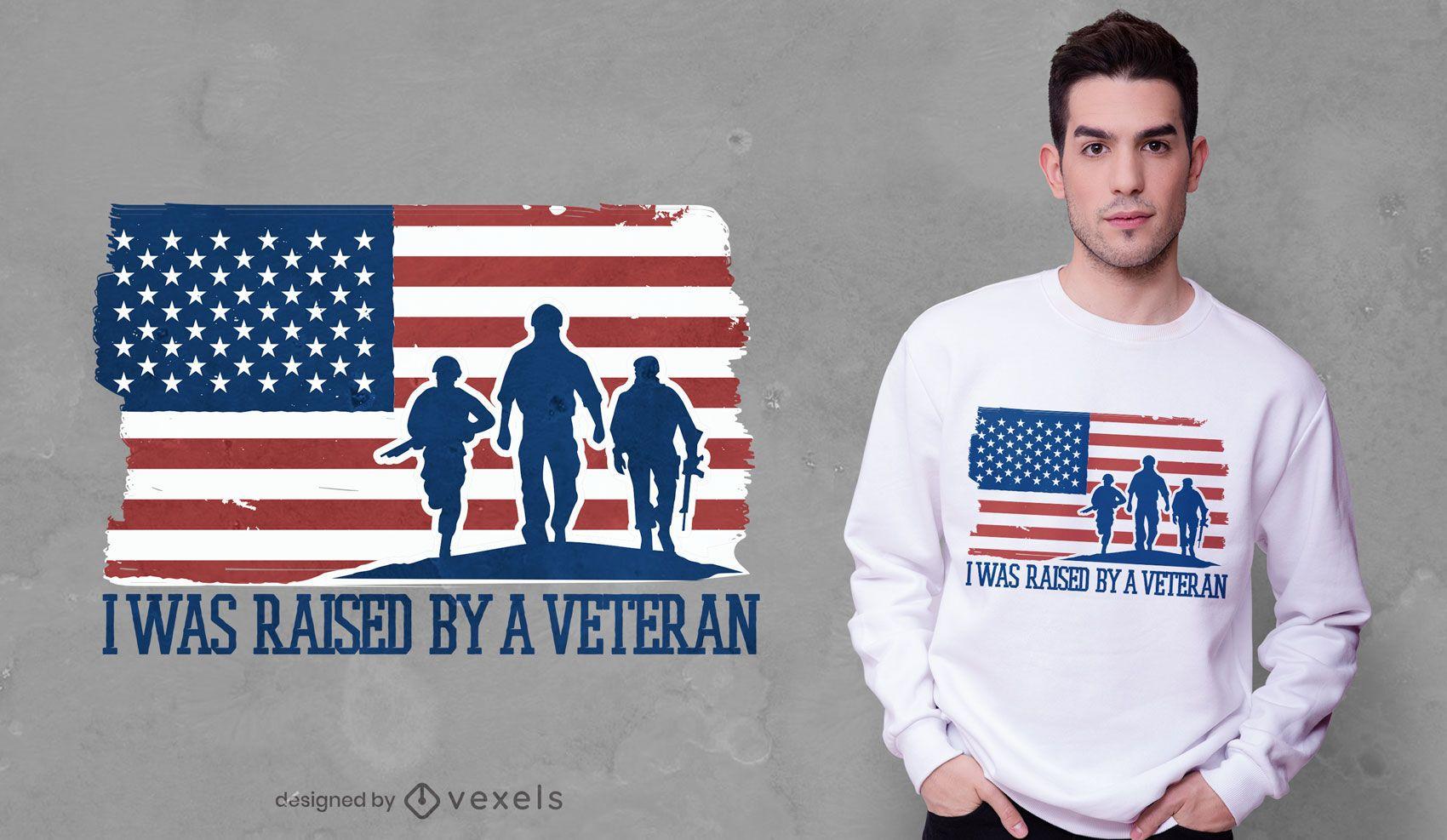 Dise?o de camiseta de cita de hijo veterano