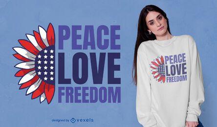Design de t-shirt das citações da liberdade dos Estados Unidos